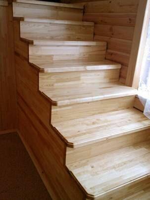 Лестница из мебельного щита своими руками
